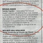 Soirée de présentation à Epiais-Rhus