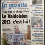 Philippe fait la UNE de la Gazette.