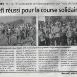 L'Annericienne 1, course solidaire...