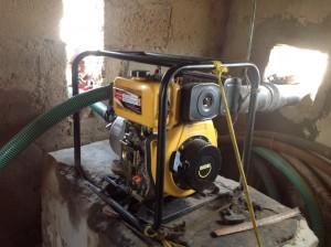 La nouvelle pompe achetée en urgence en avril 2015.