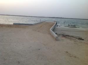 Le fameux ponton réalisé en juillet 2014.