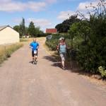 les premiers coureurs rejoignent nos marcheurs