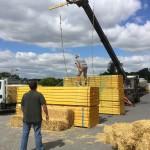 participation de l'entreprise LEROUX pour la création d'un obstacle